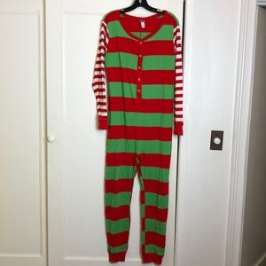 🎄EUC Christmas elf Halloween costume pajamas
